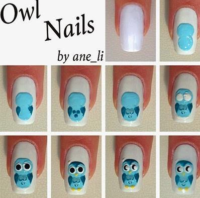Owl Nail Designs Step By Step For Short Nails The Great Monkey