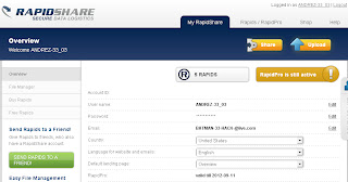 rapidshare Premium Account 13 september 2012 With Proof