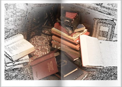 Old books amongst jumble