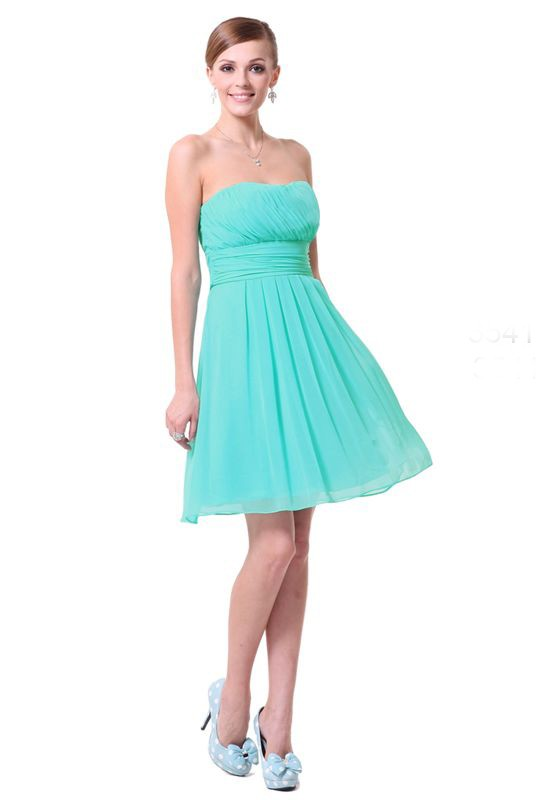 Tiffany blue bridesmaid dresses column wedding dresses for Short blue wedding dresses
