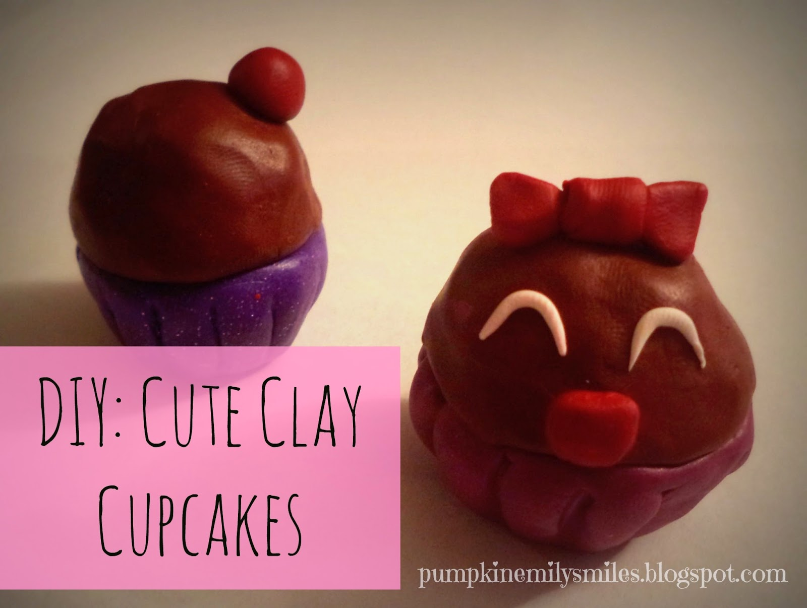 DIY: Cute Clay Cupcakes