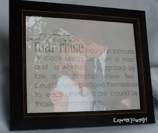 express yourself etched glass photo frame