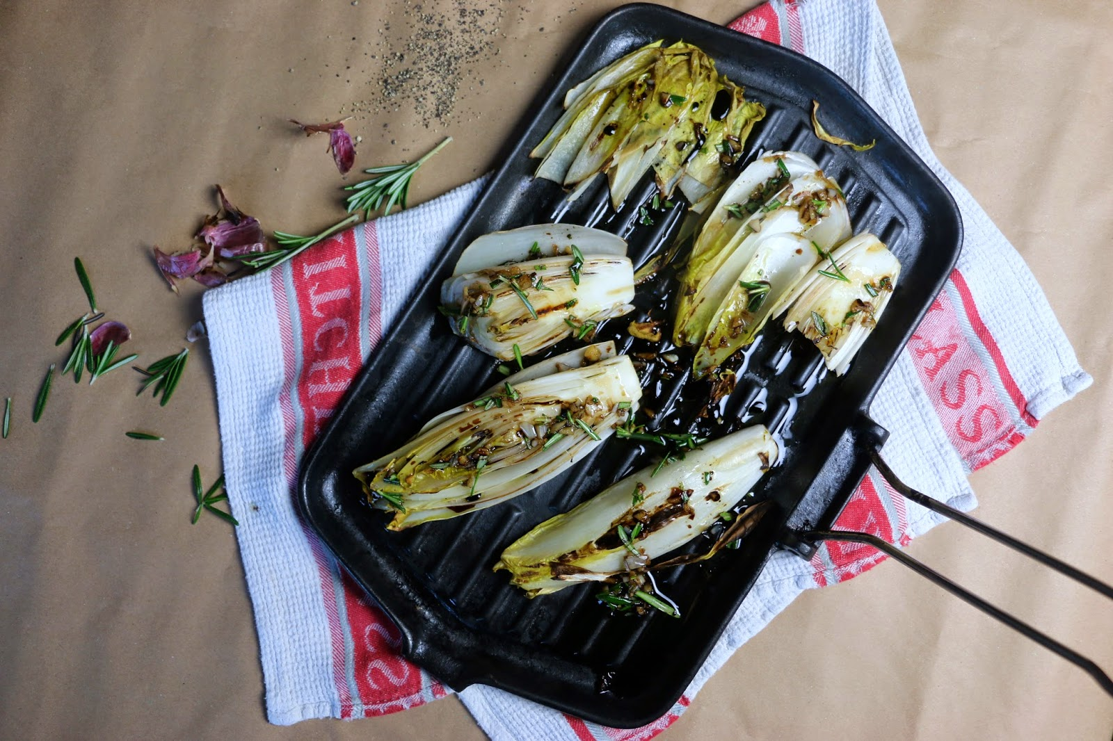 Chargrilled Chicory with Rosemary and Balsamic
