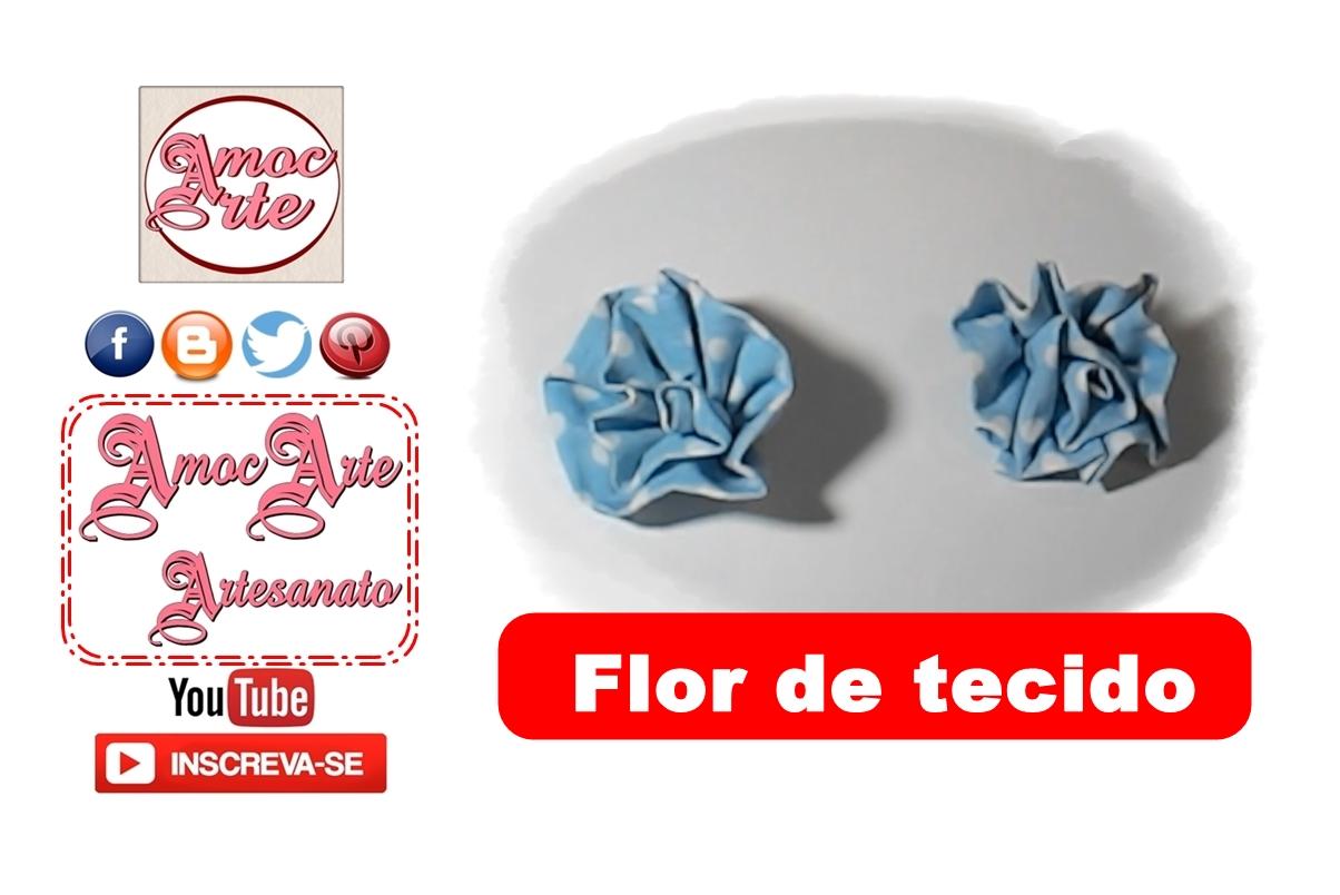 Diy - FLOR DE TECIDO