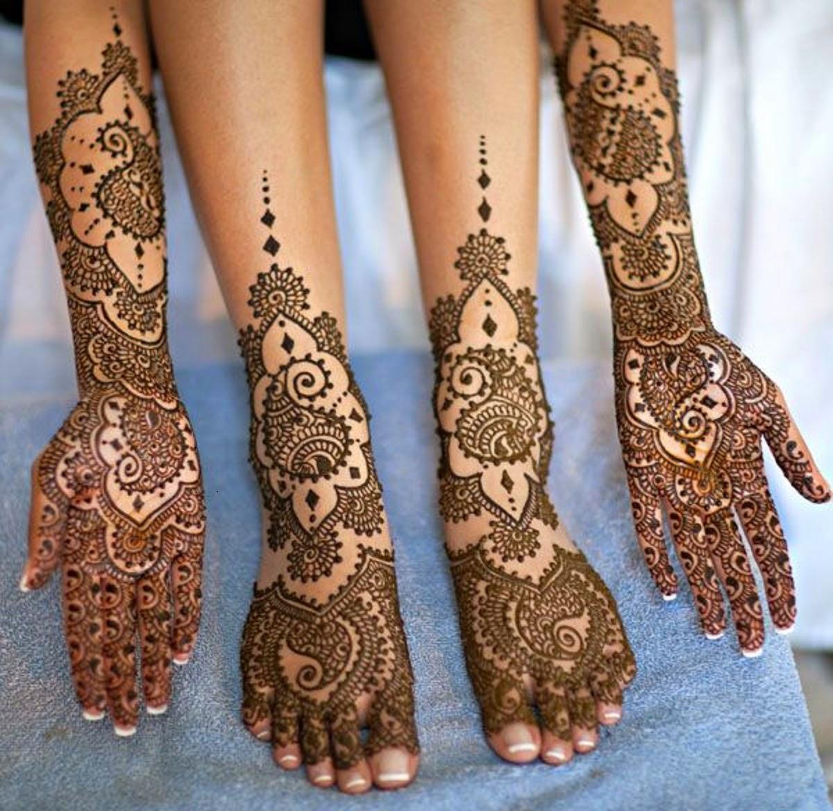 Mehndi Bride S : Bridal mehndi designs new feet and hand