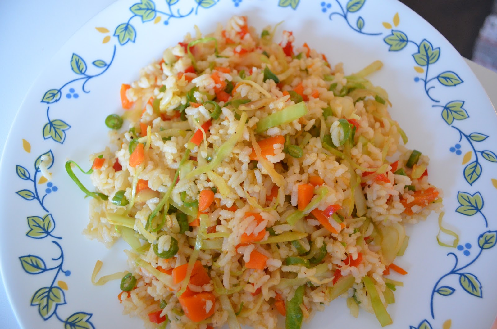 Vegetarian Recipes: Indo-Chinese Vegetable Fried Rice