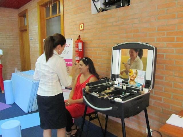 Elisabete Silva a Maquilhar Mamãs Grávidas no Centro de Congressos de Aveiro