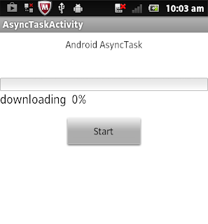 Android AcyncTask Example Android ProgressBar