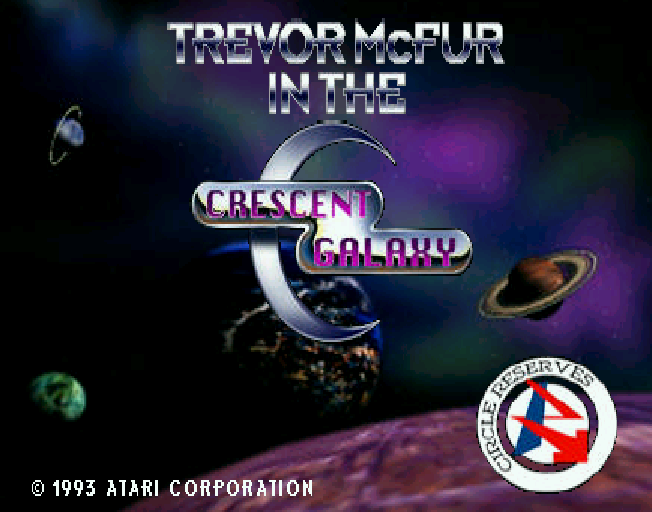 Trevor McFur in the Crescent Galaxy title screen jaguar