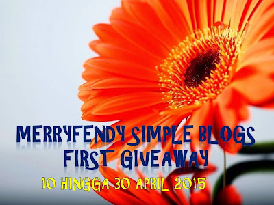 MERRYFENDY SIMPLE BLOGS FIRST GIVEAWAY