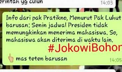 Inilah Kebohongan Presiden Republik Indonesia Versi BEM Universitas Indonesia