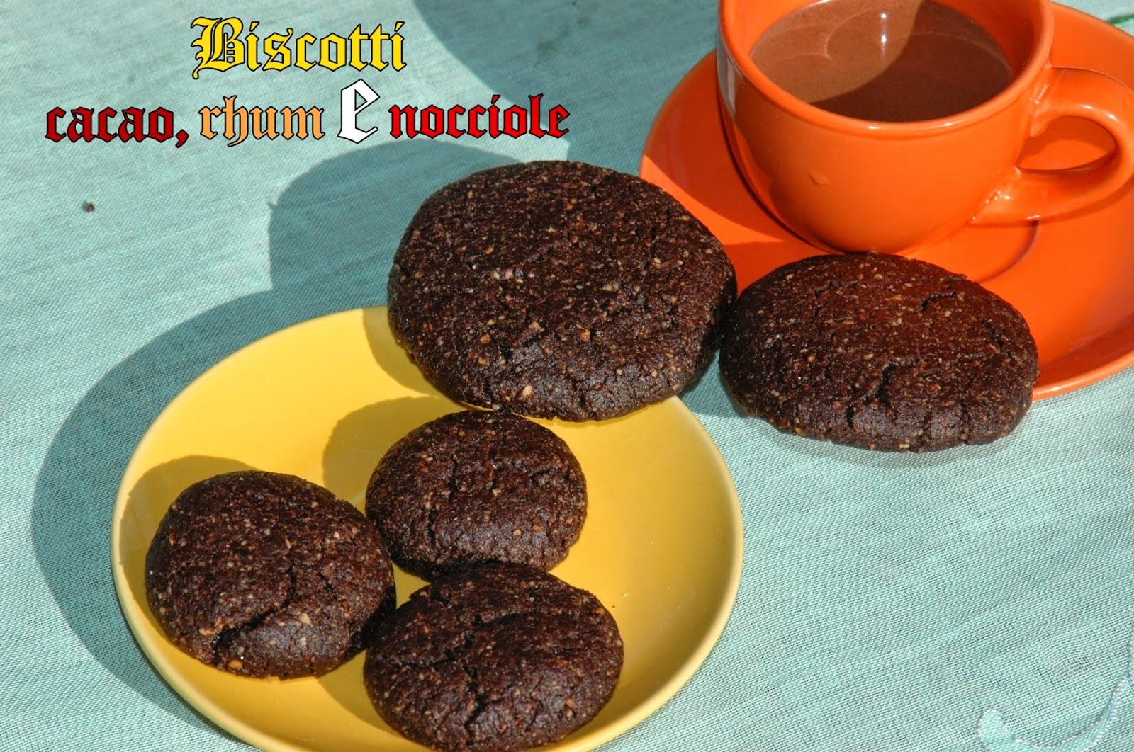 biscotti cacao, rhum e nocciole ( senza uova e lievito)