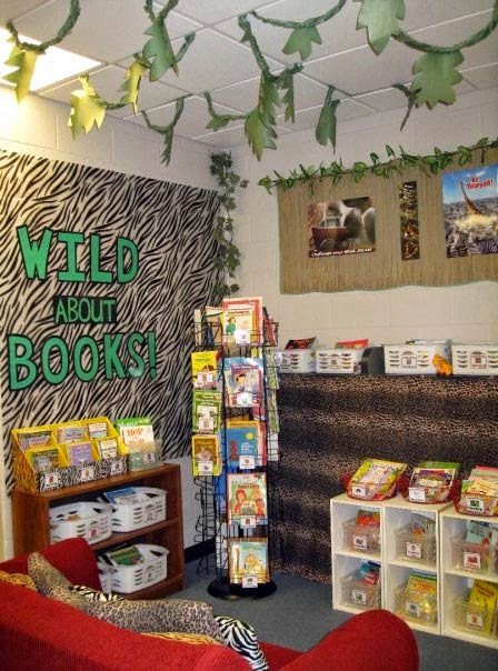 Classroom Decoration Jungle Theme ~ Jungle safari themed classroom ideas photos tips and