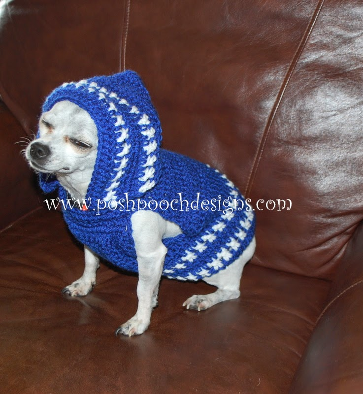 Free Crochet Patterns Dog Clothes : Posh Pooch Designs Dog Clothes: Colorado Strong Dog Hoodie ...