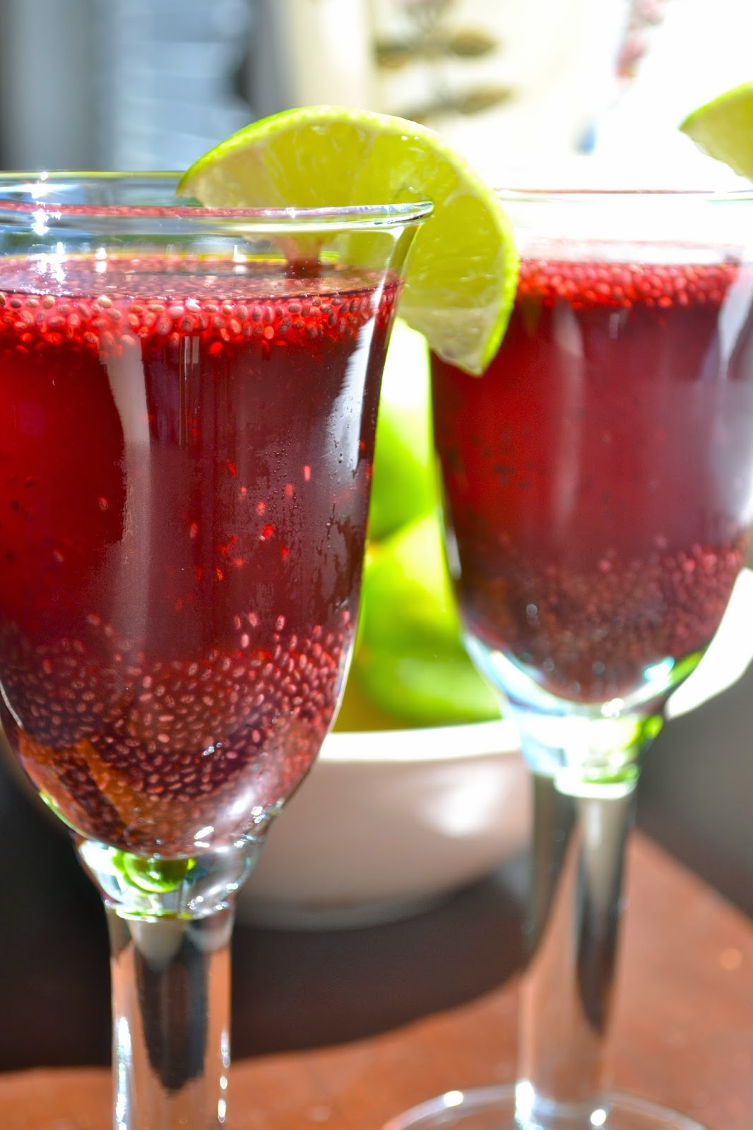Agua Frescas: Pomegranate Chia Lime and Melon | Sisi and Leeta