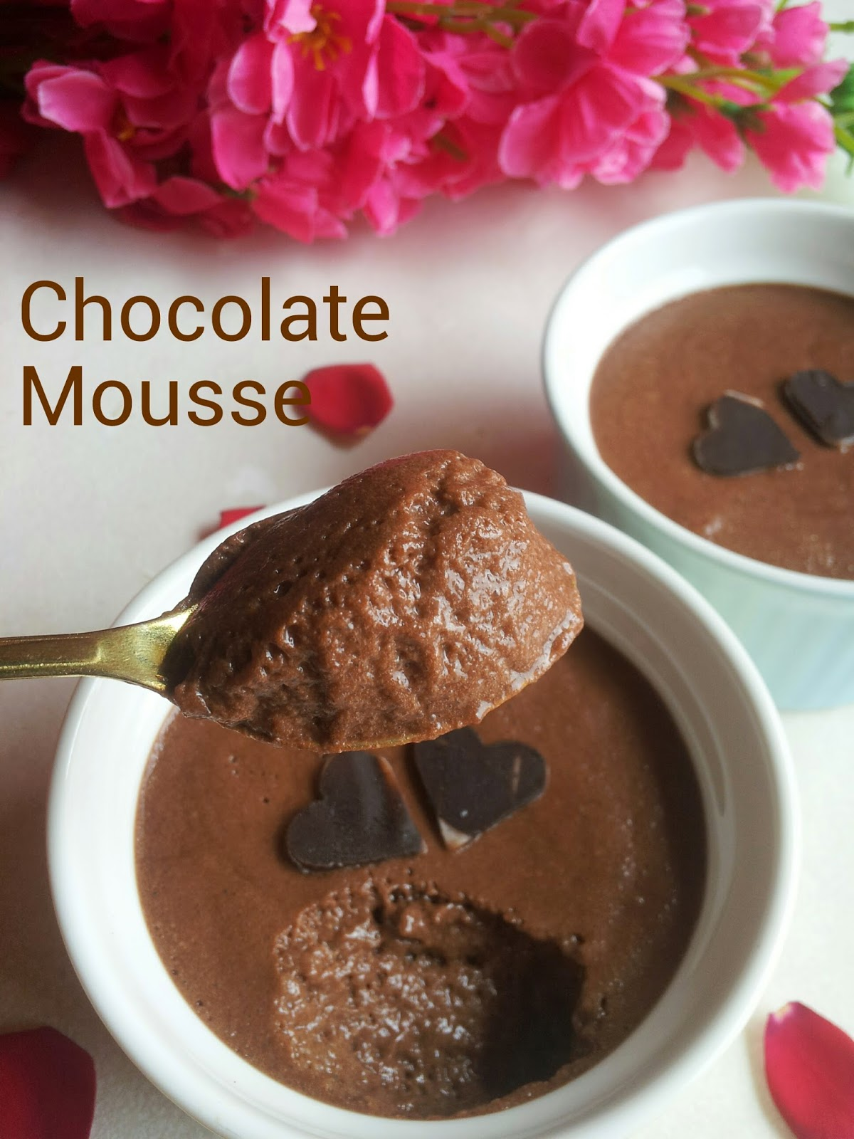 Chocolate Mousse for 2 without cream and without raw eggs