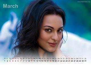 Sonakshi Sinha Calendar 2012 New Year 2012