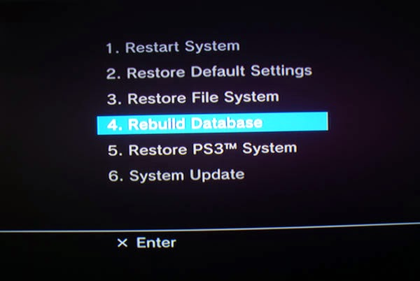 menu recovery ps3