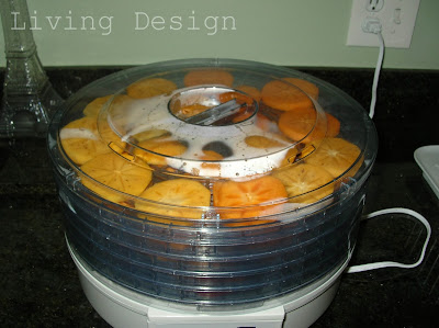 Living Design: Dehydrated Persimmons