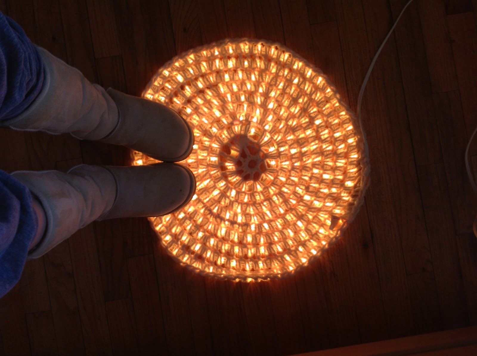 Sans Limites Crochet Light Up Rug Diy