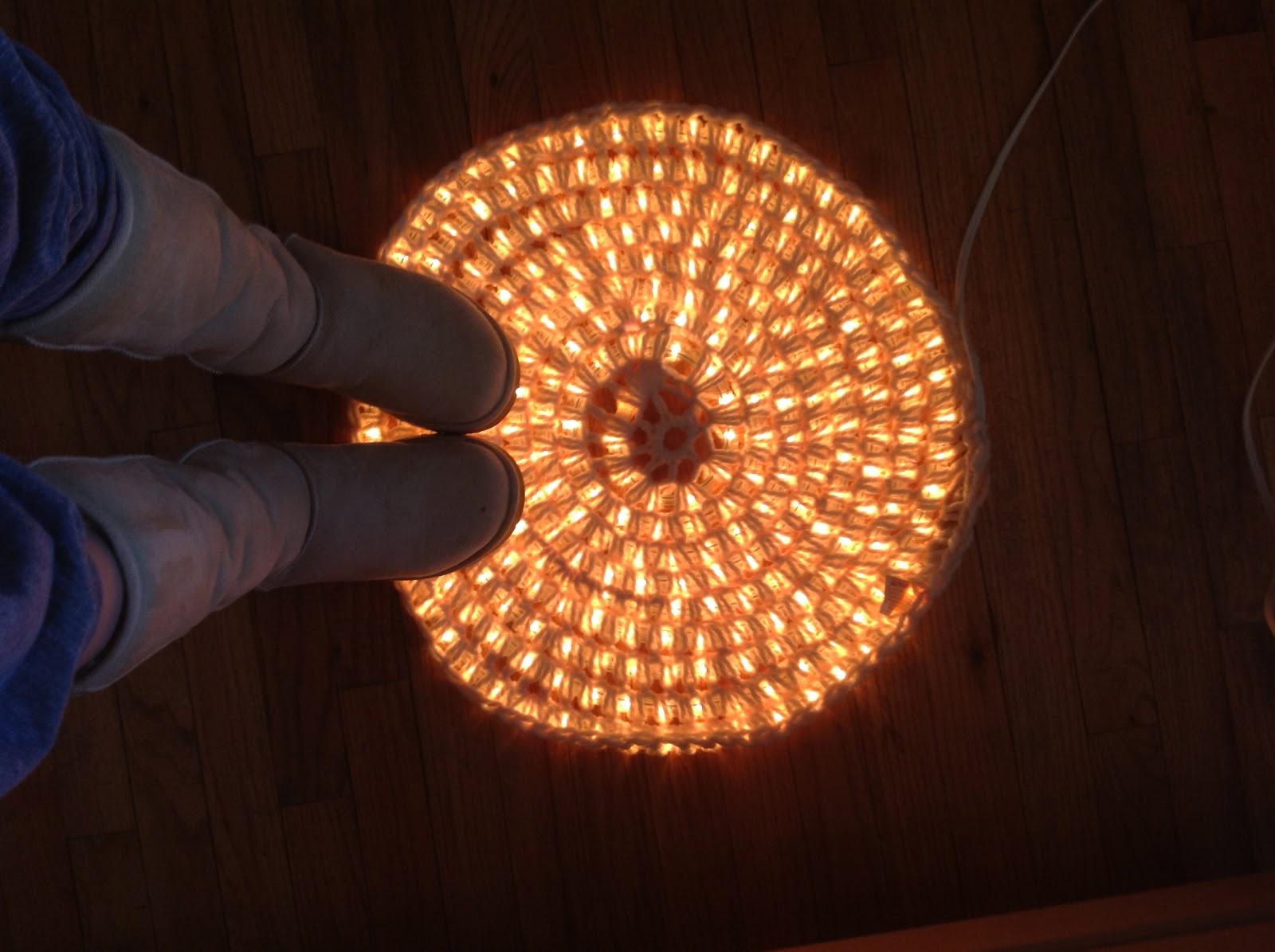 Sans Limites Crochet Light Up Rug Diy