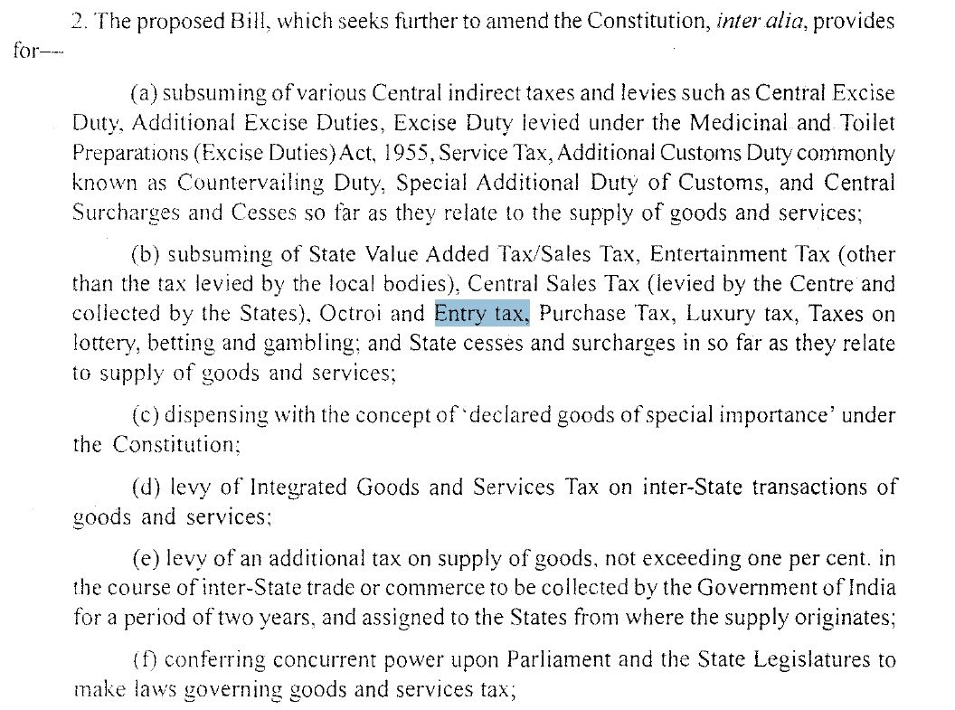 excerpt from 122nd Constitution Amendment Bill