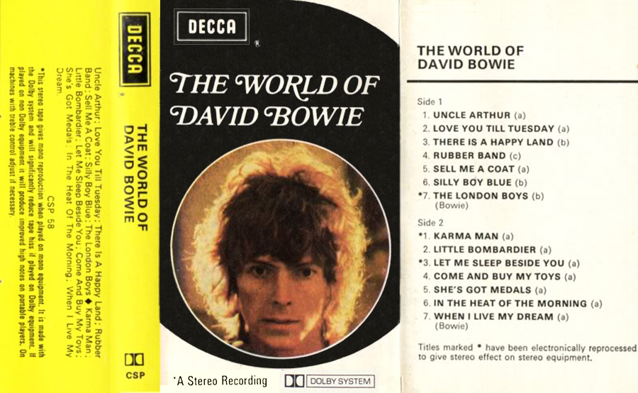 David Bowie Selections From Changesbowie