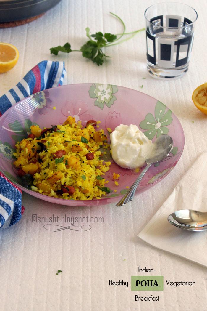 spusht | vegetarian breakfast poha