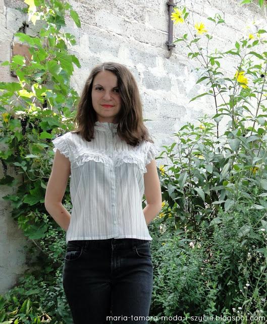 biała bluzka wizytowa