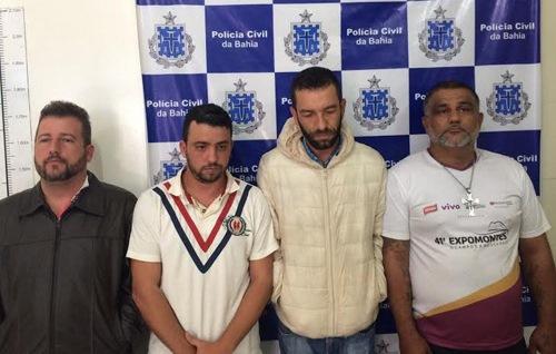 Quadrilha foi presa em Conquista  (Foto: Divulgação/Polícia Civil)