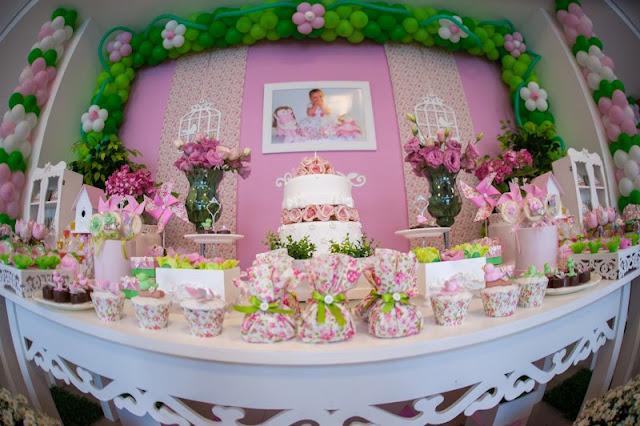 decoracao festa jardim encantado provencal:Laços & Caprichos: Jardim Provençal Rosa e Verde!!!