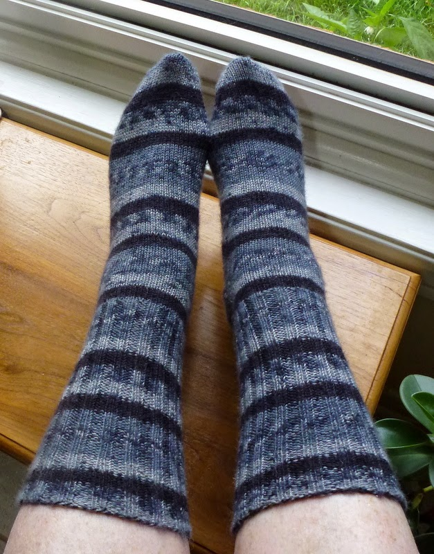 Knitting Grafting Sock Toe : Not just about knitting faux fair isle socks