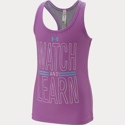 Sports authority coupon 25%: UNDER ARMOUR Girls' Watch And Learn Tank