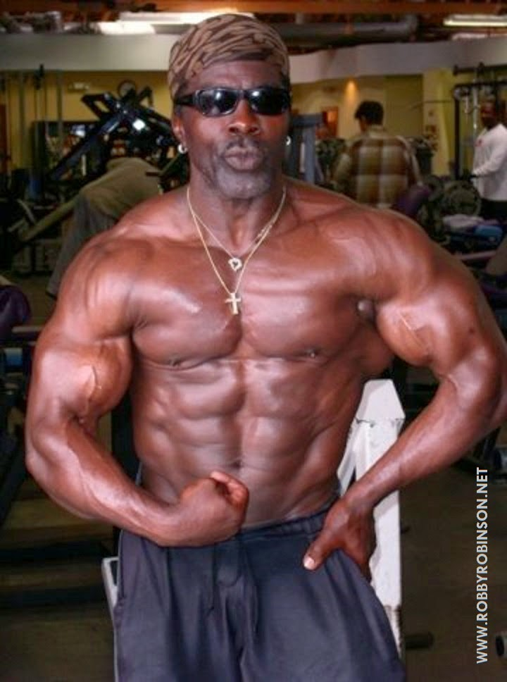 Robby Robinson - single biceps front muscular ● www.robbyrobinson.net/dvd_built.php ●