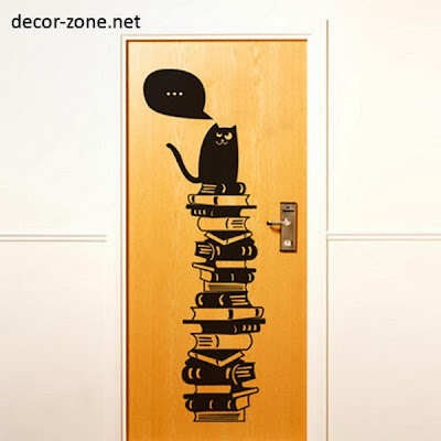 funny vinyl wall stickers for doors