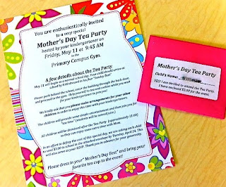 Invitations for kindergarten mothers day tea party