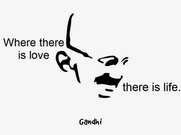 Mahatma Gandhi Quotes on love life