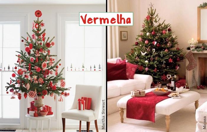 decoracao arvore de natal vermelha e dourada : decoracao arvore de natal vermelha e dourada:Especial de Natal – Como decorar uma árvore de Natal – ParteII