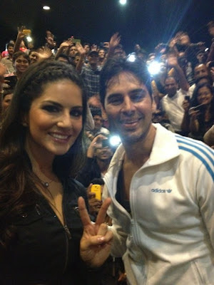 Sunny Leone with Dino Morea