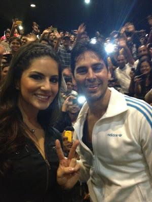 Sunny Leone with Dino Morea