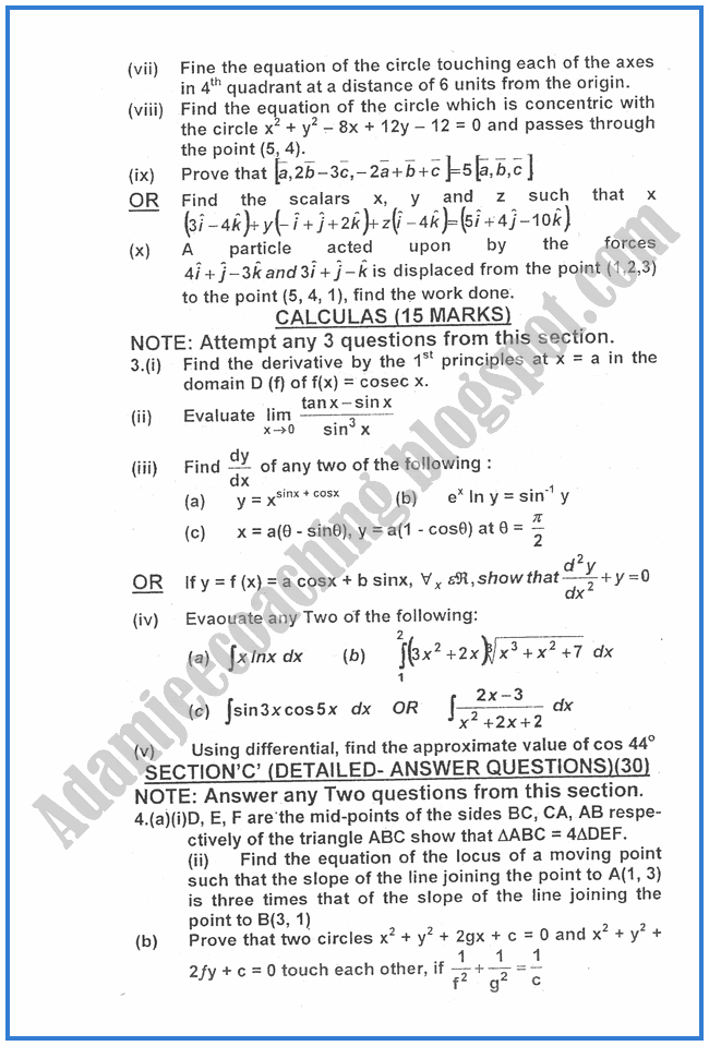 Mathematics-2010-past-year-paper-class-XII