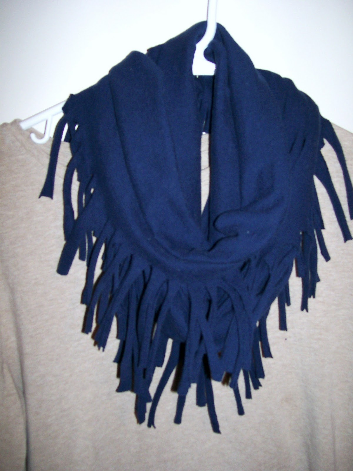 diy t shirt scarf 2 away from the office chair