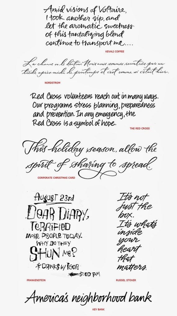 Handwriting Style Fonts