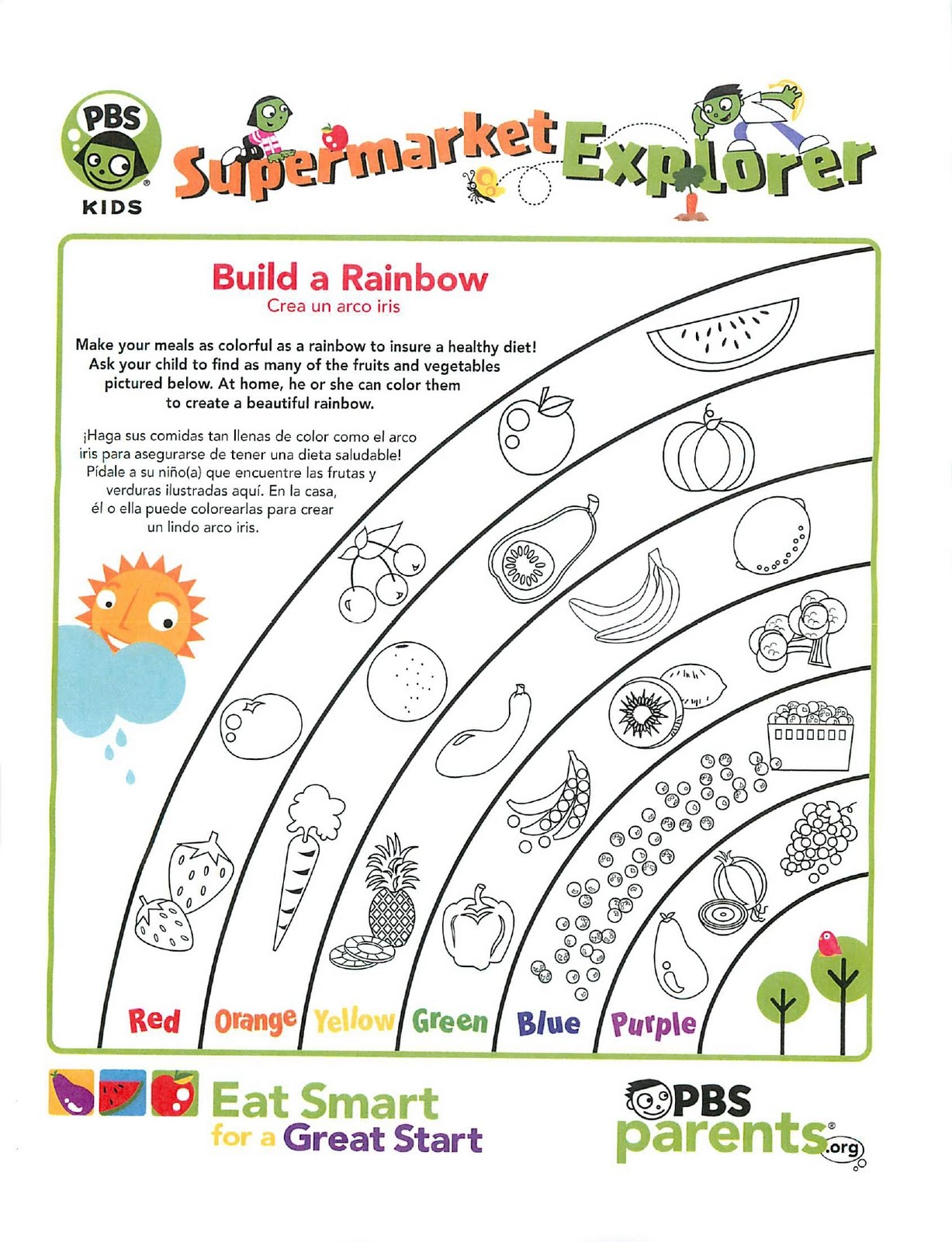 ... the PBS Kids website for more printable handouts and coloring pages