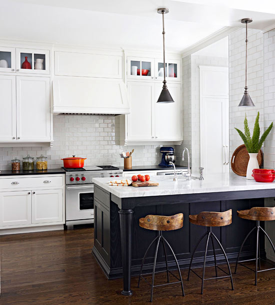 A Gorgeous Kitchen That Looks Like It Came Out Of An Ikea: Whiskey Kittens: The Two-Toned Kitchen: Trendy Or A New