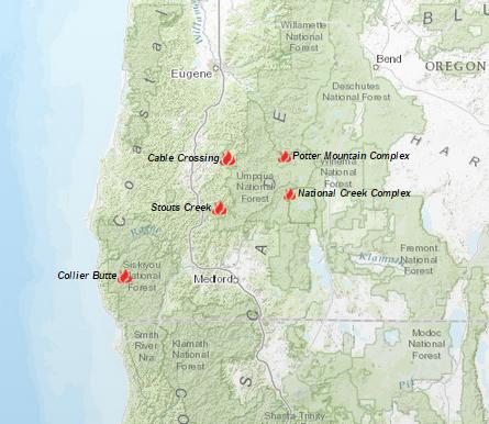 Oregon Smoke Information 8102015 Widespread smoke throughout