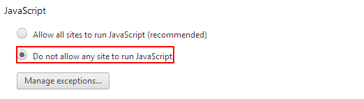 JAVASCRIPT DONT-ALLOW