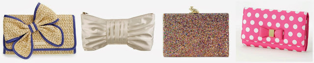 I saw one of these clutches and totally thought it was a Kate Spade - it wasn't! Now I want to see if I can fool you too. Three of these are Kate Spade clutches and one is from  Apt 9 for $21.60. Can you guess which one is the less expensive clutch? Click the links below to see if you are correct!