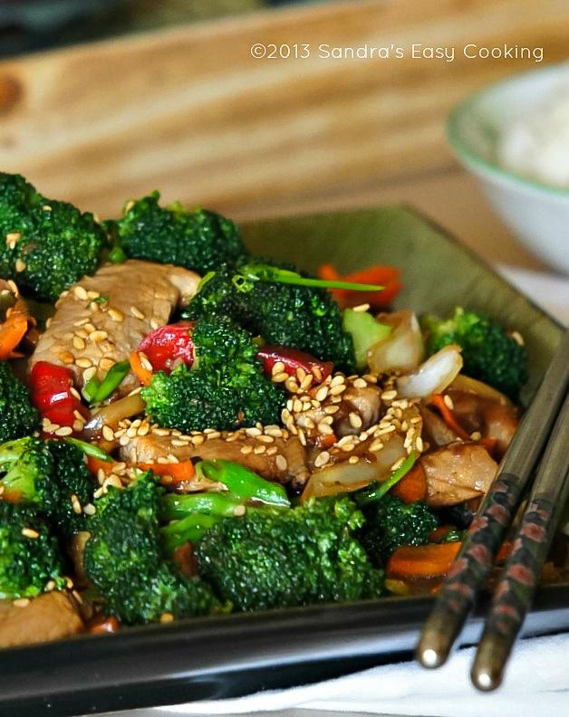 Chinese broccoli and pork tenderloin stir fry sandras easy cooking chinese broccoli and pork tenderloin stir fry forumfinder Image collections