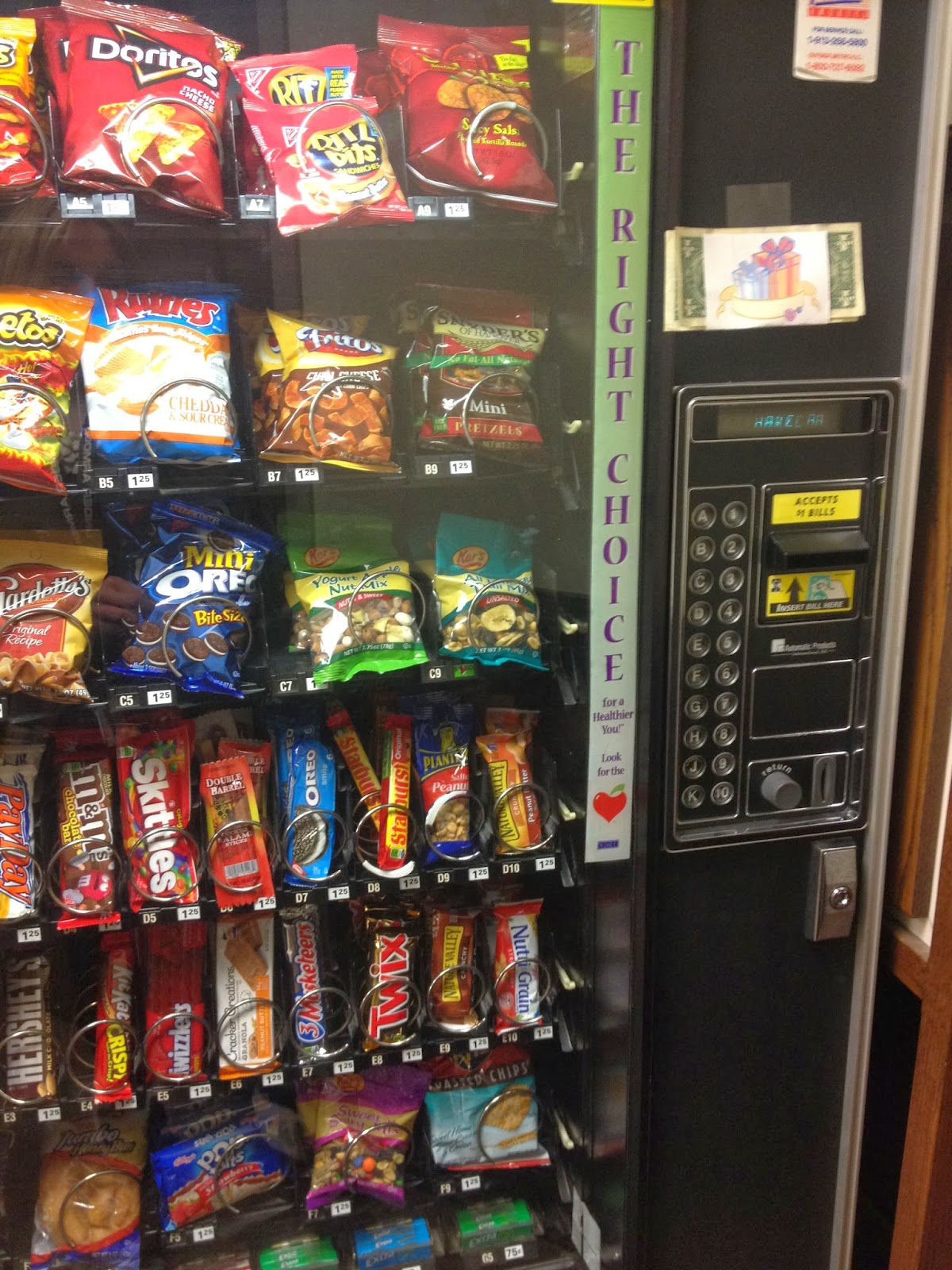 taped dollar vending machine